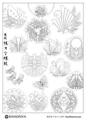 様々な蝶紋